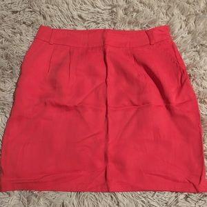 Coral knee high skirt